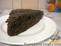 Фото к рецепту: Шоколадный торт (постный)