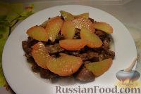 Фото к рецепту: Закуска из печени с грейпфрутом