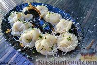 Фото к рецепту: Пельмени с рыбой и сыром