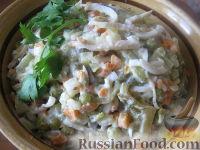 Фото к рецепту: Салат из кальмаров с овощами