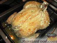 Фото приготовления рецепта: Курица, фаршированная картофелем и грибами - шаг №7