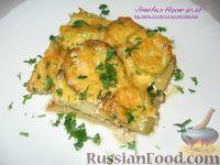 Фото к рецепту: Картофель, запеченный с кабачками