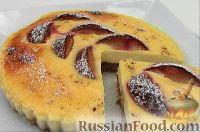 Фото к рецепту: Чизкейк творожный со сливами