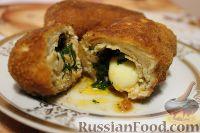 Фото к рецепту: Котлеты по-киевски с сыром и маслом