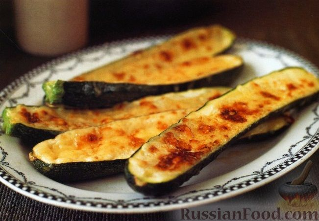Рецепт Цуккини, запеченные с сыром