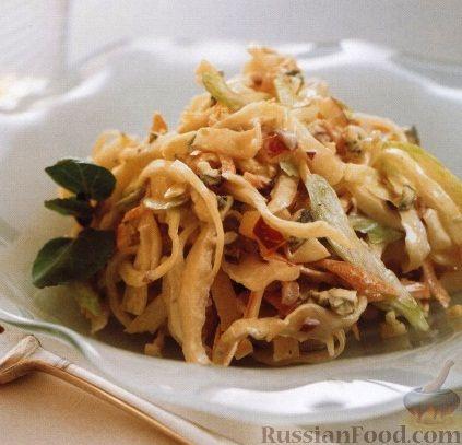 Рецепт Капустный салат с яблоками и сыром