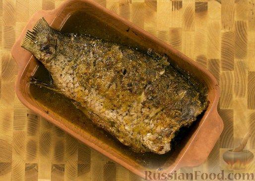 Рецепт Карп, запеченный с медом