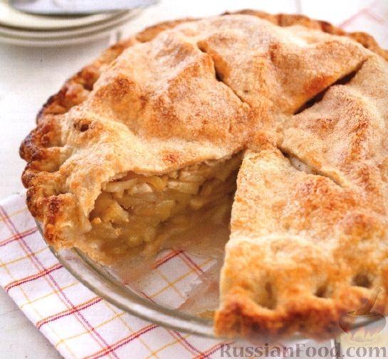 пошагово с рецепт яблочный Песочный пирог фото
