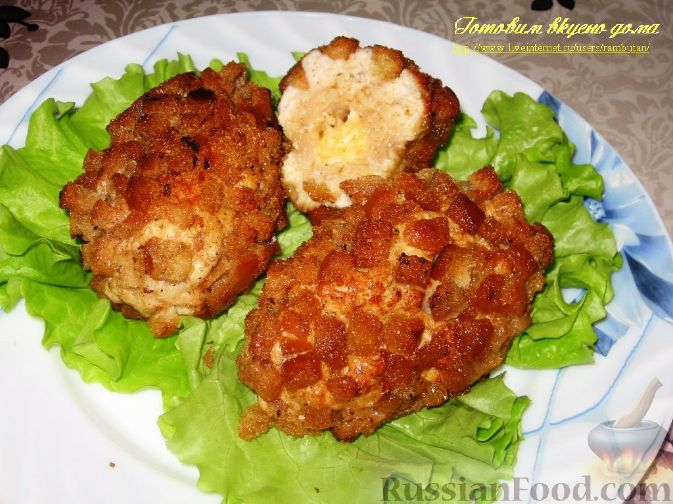 Рецепт Куриные котлеты с сыром «Папараць кветка»