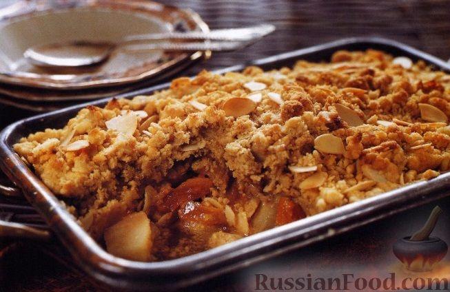 Рецепт Зимний крамбл с грушами и курагой