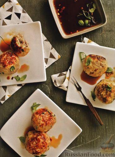 Рецепт Куриные тефтели с острым соусом