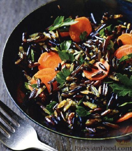 Рецепт Дикий рис с морковью