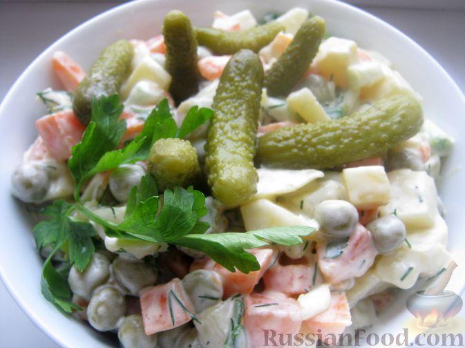"""Рецепт Салат """"Оливье"""" вегетарианский"""