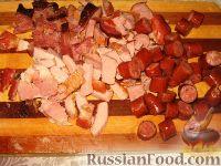 Фото приготовления рецепта: Суп из чечевицы с копченостями - шаг №5