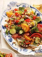 Фото к рецепту: Овощной салат с нектарином