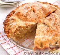 Фото к рецепту: Закрытый яблочный пирог