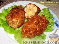 Фото к рецепту: Куриные котлеты с сыром «Папараць кветка»