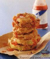 Фото к рецепту: Жареные зеленые помидоры