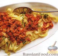 Фото к рецепту: Паста с соусом болоньезе из свиного фарша