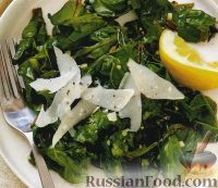 Фото к рецепту: Листья свеклы с сыром