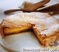 Фото к рецепту: Миндальный пирог с джемом