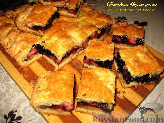 Рецепт Пирог с яблоками и черникой