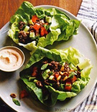 Рецепт Закуска с бараниной и овощами