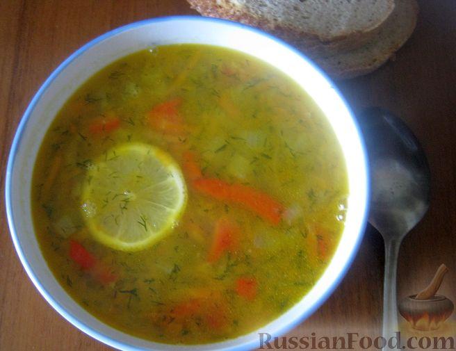 Рецепт Суп овощной с чечевицей и сладким перцем