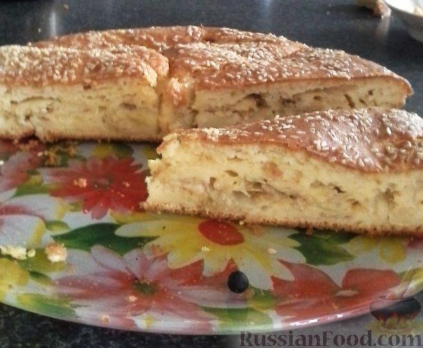 Рецепт Капустный пирог с кунжутом (на кефире)