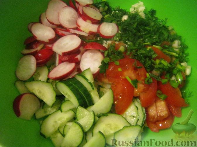 Овощной салат с кунжутом