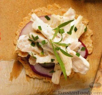 Рецепт Куриный салат с луком и эстрагоном