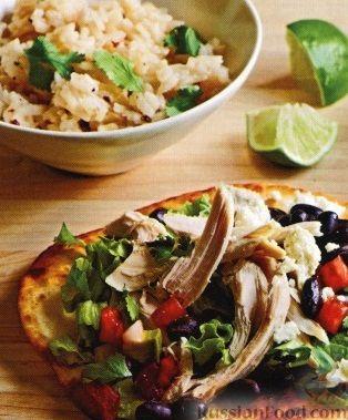 Рецепт Закуска с курицей, фасолью и авокадо