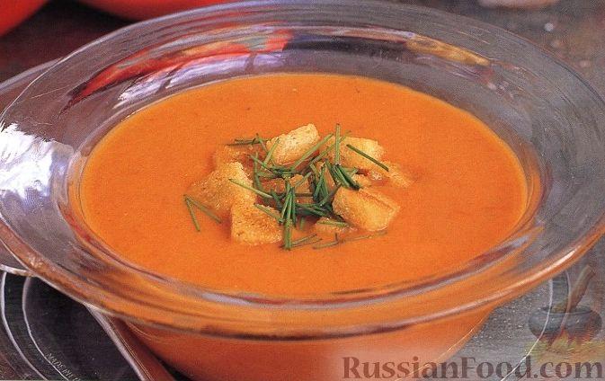 Рецепт Холодный суп-пюре из помидоров и перца