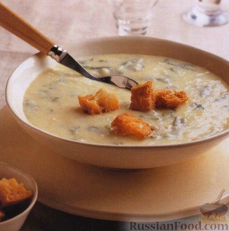 Рецепт Картофельный суп-пюре с рукколой