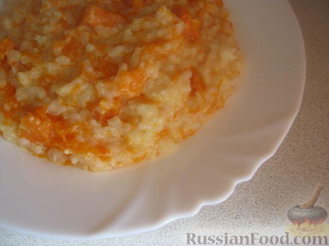 Рецепт Каша рисовая с тыквой на молоке (в мультиварке)