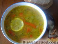 Фото к рецепту: Суп овощной с чечевицей и сладким перцем