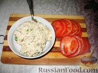 Фото приготовления рецепта: Закуска из фасолевого паштета на помидорах - шаг №2