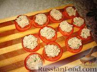 Фото приготовления рецепта: Закуска из фасолевого паштета на помидорах - шаг №3