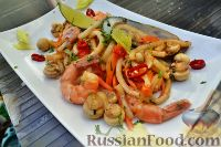 Фото к рецепту: Лапша удон с морепродуктами