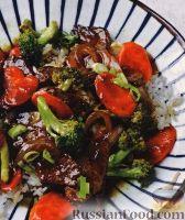 Фото к рецепту: Говядина с брокколи