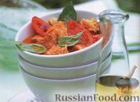 Фото к рецепту: Томатный суп с базиликовым маслом