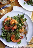 Фото к рецепту: Салат с креветками и спаржей