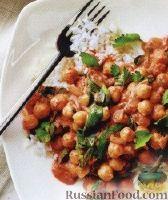 Фото к рецепту: Нут со шпинатом