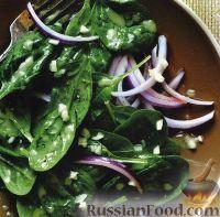 Фото к рецепту: Салат из шпината