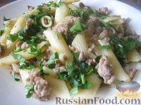 Фото к рецепту: Макароны с мясом (по-флотски)