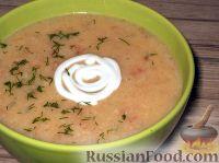 Фото к рецепту: Картофельный суп-пюре с чесноком, помидорами и перцем