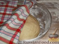 Фото приготовления рецепта: Постное дрожжевое тесто (безопарный способ) - шаг №11