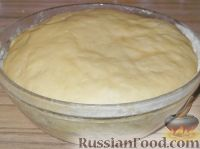 Фото приготовления рецепта: Постное дрожжевое тесто (безопарный способ) - шаг №12