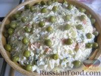 Фото к рецепту: Салат Оливье с курицей