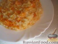 Фото к рецепту: Каша рисовая с тыквой на молоке (в мультиварке)